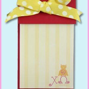 ✨NEW✨ Chi Omega Sorority Bow Notepad
