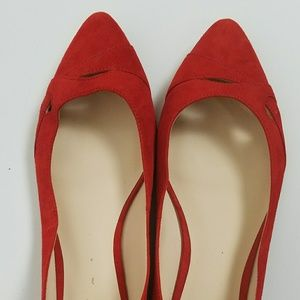 Nune West red suede flats