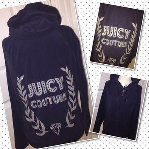 Juicy Couture Terry Jacket Hoodie LARGE