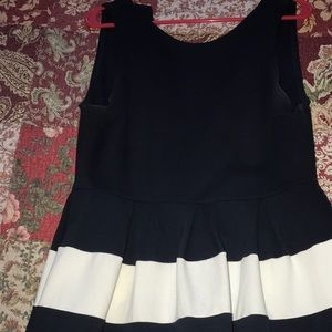 Forever 21 Navy and white dress