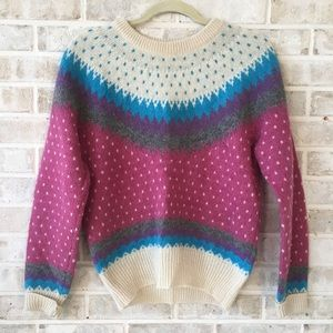 Woolrich Vintage Sweater Size S Fair Isle Nordic