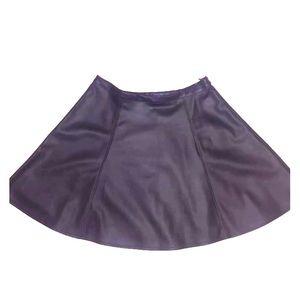 Black LC Lauren Conrad faux leather skirt Sz 10