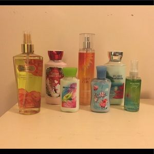 Perfumes and body lotions