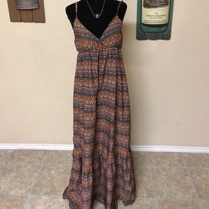Multicolored bohemian sundress
