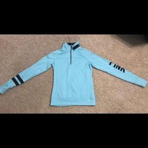 Blue quarter zip sweatshirt