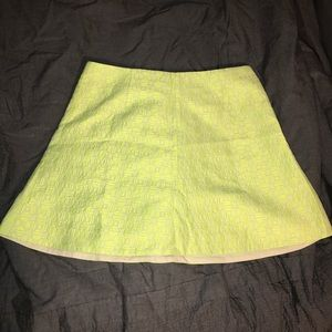 JCrew Neon Geometric Skirt