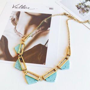 J. Crew blue stone collar necklace