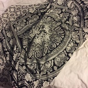 Black and White Tapestry
