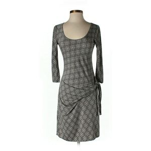 Max Studio Grey Mock Wrap Dress