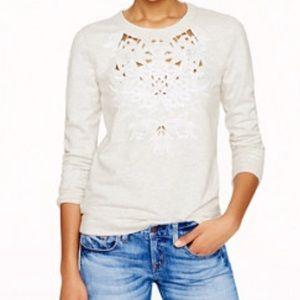 Jcrew cutout floral sweatshirt