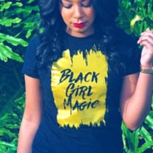Fitted Black Girl Magic Fitted Tee