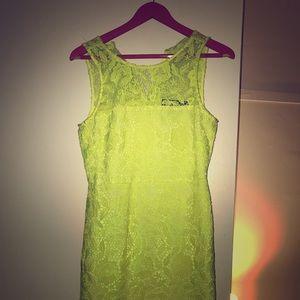 J.crew yellow/lime lace dress size 4
