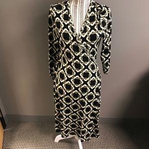 Banana Republic wrap dress sz L