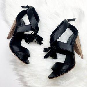 Kate Spade Saturday Black Tassel Heels