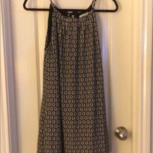 Chain link straps straight dress
