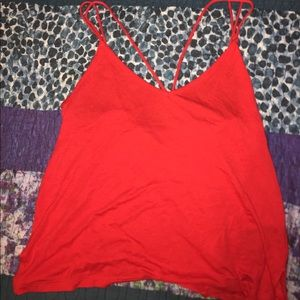 H&M Red Strappy Tank Top