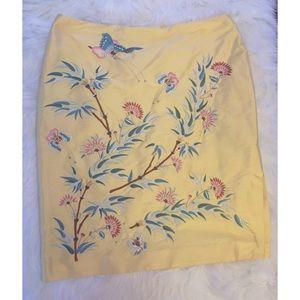 Silk Embroidered Ralph Lauren Skirt