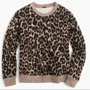 Jcrew leopard sweatshirt