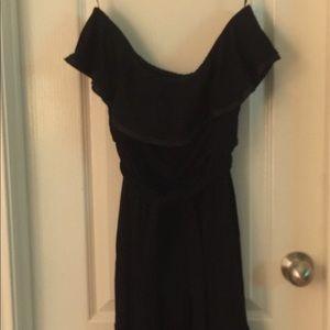 NWOT Strapless black dress