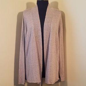 Eileen Fisher Tan Open Front Cardigan Sweater, 2X