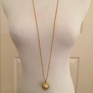 J. Crew Crystal Pendant Necklace