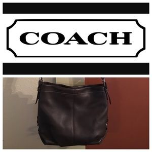 COACH AUTHENTIC LEATHER SHOULDER PURSE