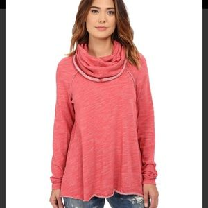 NWT Free People Cocoon Watermelon Cowl Neck Tunic