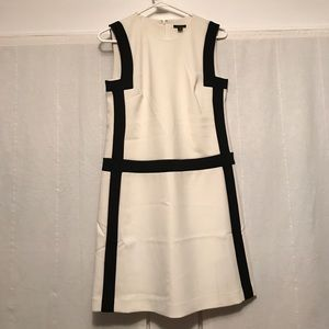 NWT Ann Taylor Color Block Black and White Dress