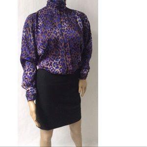 Purple/Gold Vintage Top Size 6.