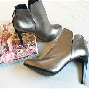 Zara NWT foxy silver booties