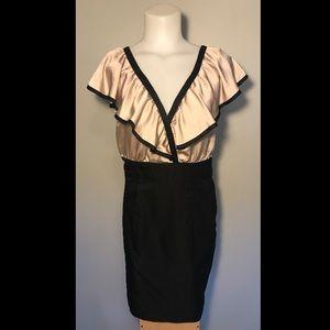 H&M Dress Ruffle V Neck Bandage Pencil A Line 10