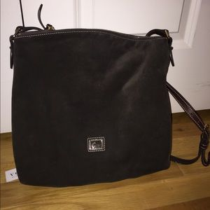 Dooney & Bourke brown suede satchel