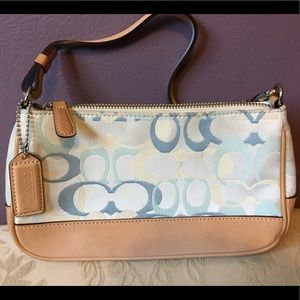 Coach light blue purse