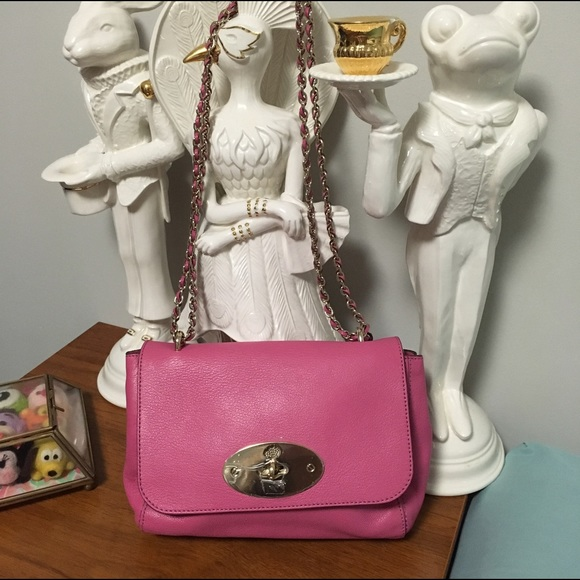 f6161c08208e Mulberry Pink leather Crossbody bag
