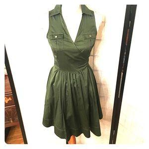 White House Black Market Olive Dress