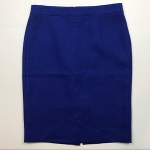 J. Crew #2 Pencil Skirt in Cobalt