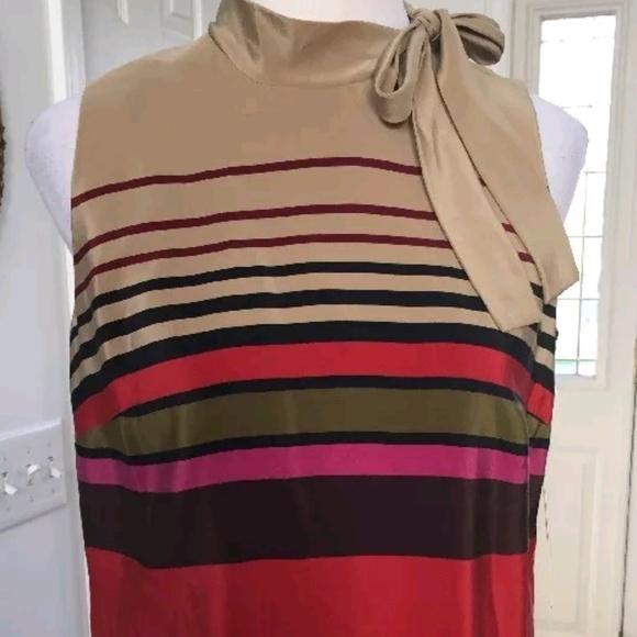 19e473a277 Donna Morgan Tops - Donna D. Morgan Silk Striped Sleeveless Blouse