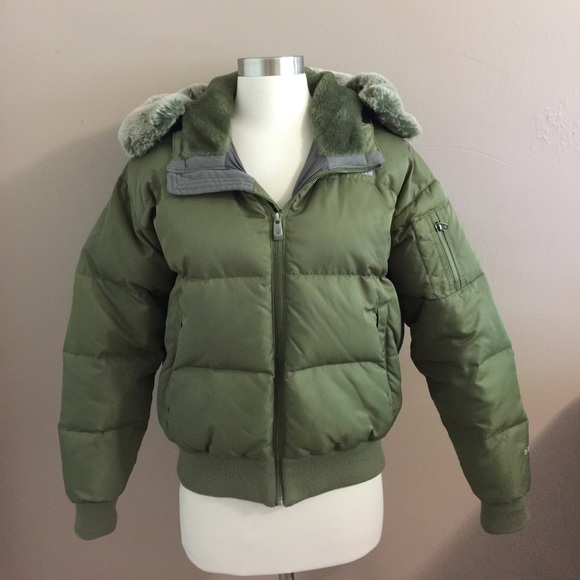 0c00cae48 The Northface 550 Olive Green Fur Hooded Bomber