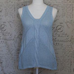 Cabi #197 Silk Blend Light Blue Knit Tank Med