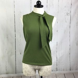 Ann Taylor Loft Sleeveless Mockneck Tie Sweater