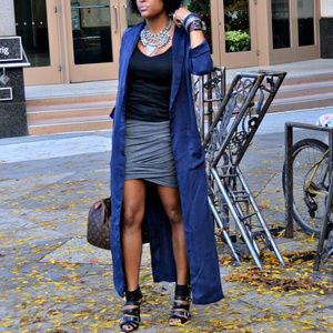 H&M Cupro Long Duster w/Slits