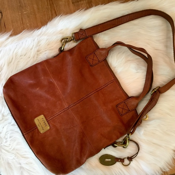 Fossil Handbags - FOSSIL Genuine Leather Live Love Vintage 1954 Bag dbe92a59206b6