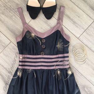 Anthropologie Silk Dandelion Dress