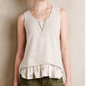 Anthropologie Deletta Tank with Silk Floral Lining