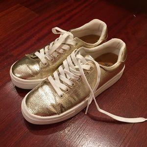 Like New H&M Gold Sneakers