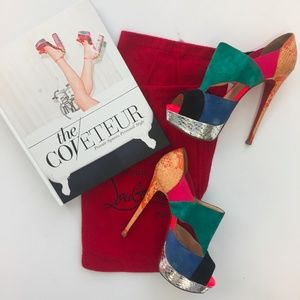 Authentic Christian Louboutin Multi-Colored Heels