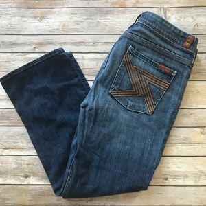 7 for all Mankind • Cropped straight jeans