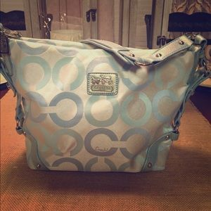 Coach Light Blue Shoulder Bag