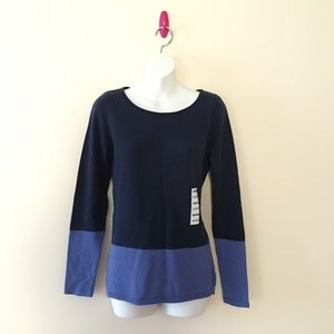 NWT colorblock sweater