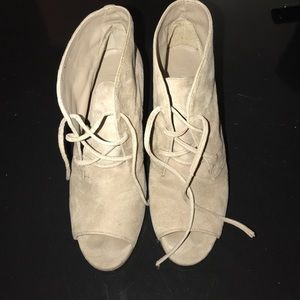Make tan suede heels